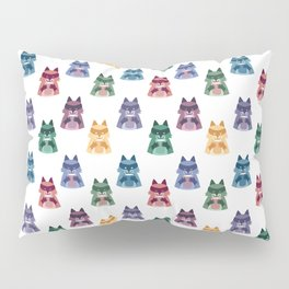 racoon with milk pattern Pillow Sham