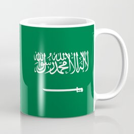 National flag of  the Kingdom of Saudi Arabia - Authentic version to scale and color Coffee Mug