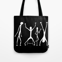 Abstract People Black + White Tote Bag