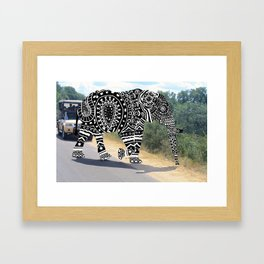 Elephant Doodle Framed Art Print