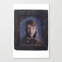 sylvia plath Canvas Prints featuring Sylvia Plath by robertpriseman