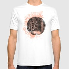 Wall of forest White Mens Fitted Tee MEDIUM