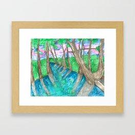 Blue Hole Framed Art Print
