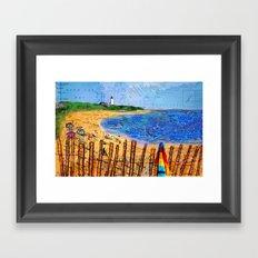 Summer down the Cape Framed Art Print