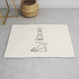 Inhale Exhale Llama Rug