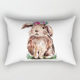 Bunny with Flower Crown Rectangular Pillow