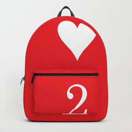 Two Of Hearts Graphic Backpack