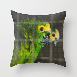 Green Spies Throw Pillow