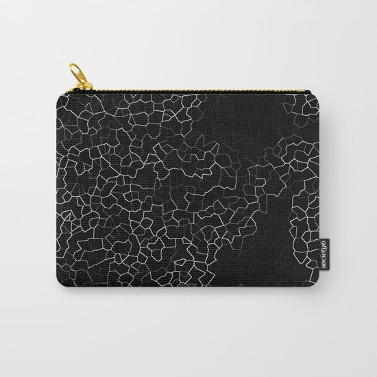 White on Black Crackle Carry-All Pouch
