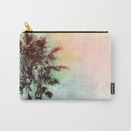 Watercolor Palm Trees- Rainbow Edition Carry-All Pouch