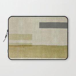"""Burlap Texture Natural Shades"" Laptop Sleeve"