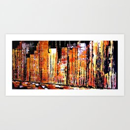 Golden town Art Print