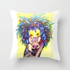 To Africa With Love Throw Pillow