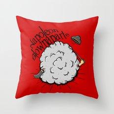 Napoleon Blownaparte Throw Pillow