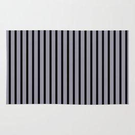 Lilac Gray and Black Stripes Rug