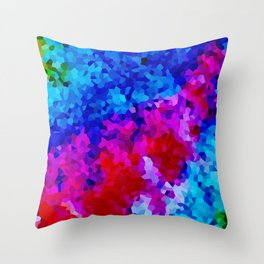 Rock Candy Blue Tie Dye. Throw Pillow