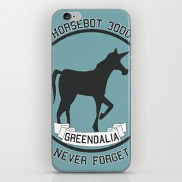 Horsebot 3000 Never Forget iPhone Skin