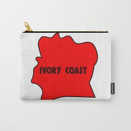 Ivory Coast Red Silhouette Carry-All Pouch