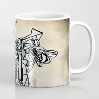 transformer Mugs featuring Transformer by Dave Houldershaw