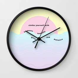 colossians 3:12 Wall Clock
