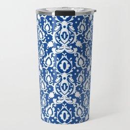 Blue Casbah Damask Travel Mug