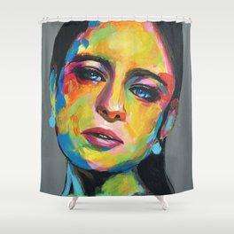Emilia Clarke by ilya konyukhov (c) Shower Curtain