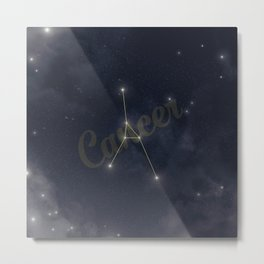 Cancer Constellation - Zodiac Metal Print