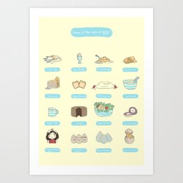 Some of the uses of eggs Art Print