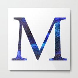 """Initial letter """"M"""" Metal Print"""