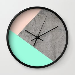 Concrete Collage Wall Clock