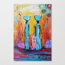 African Print Canvas Print