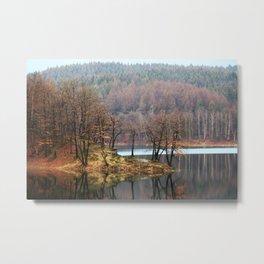 Mirroring Lake - Aggertalsperre Metal Print