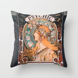 venice beach psychic Throw Pillow