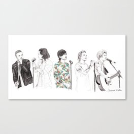 1d on stage Canvas Print