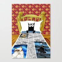 duvet cover Canvas Prints featuring Duvet Cover by Andrew Hitchen