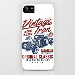 Vintage Iron Hot Rod Custom iPhone Case
