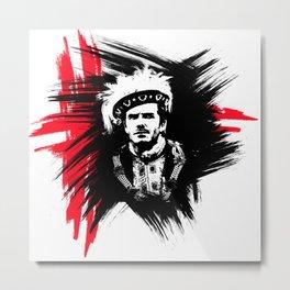 David Beckham - True King Metal Print