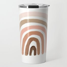 rainbow pink minimalist Travel Mug