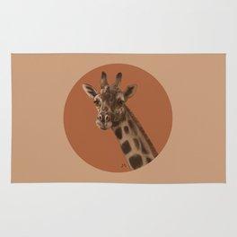 Round Giraffe Rug