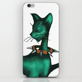 Green Spotted Kitty iPhone Skin