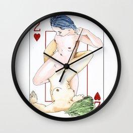 Dois de Copas Wall Clock