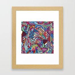 Colorful ethno pattern design Framed Art Print