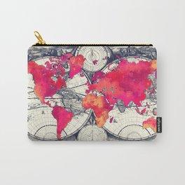 World map 10 #worldmap #map Carry-All Pouch
