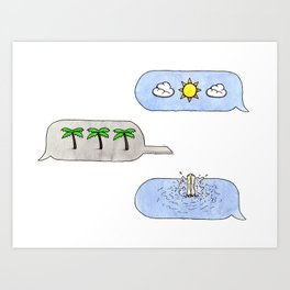 Warm Weather Vibes Art Print