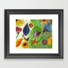 Flower Swirls Framed Art Print
