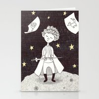 le petit prince Stationery Cards featuring Le petit prince by nu boniglio
