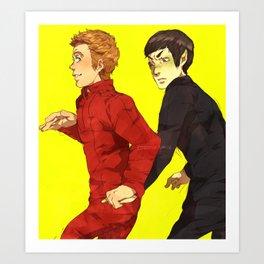 Follow me, Mr. Spock Art Print