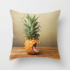 Pineapple is hungry Throw Pillow