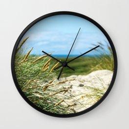 Sand Dune Landscape Denmark Haurvig Wall Clock