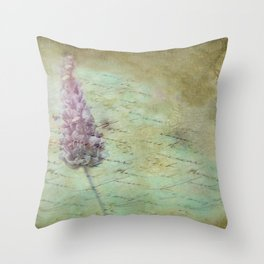 Lady Lavender Throw Pillow